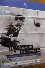 Spielplakat - 09.02.2014 - FC Schalke 04 vs. Hannover 96 + Saison 2013/2014 +