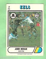 1976 SCANLENS RUGBY LEAGUE CARD #65.  JOHN MORAN, PARRAMATTA EELS