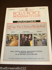 ROLLS ROYCE ENTHUSIASTS CLUB ADVERTISER #80 - MAY 1988