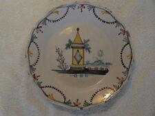 Assiette faience de Nevers XVIIIème au tombeau (french pottery plate)
