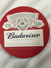BUDWEISER  BEER COASTER MINT BUY IT NOW GIVE A DAMN DON'T DRIVE DRUNK BUD