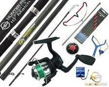 COMPLETE STARTER FISHING TACKLE SET KIT WITH HUNTER PRO® ROD REEL TACKLE ETC.