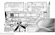 Model Airplane Full Size Printed Plans Peanut Scale 1908 BLERIOT IV + article