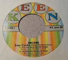 SAM COOKE ~ Encore ~ It's The Talk Of The Town / Along The Navajo Trail +2