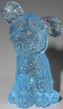 Aqua blue art glass dog paperweight / puppy pup mutt spaniel shih tzu lhasa apso