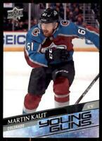 2020-21 UD Series 1 Base Young Guns #217 Martin Kaut RC - Colorado Avalanche