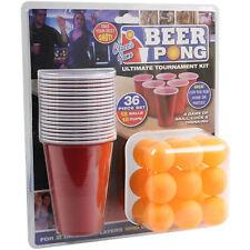 ORIGINALE 36pc American Beer Pong impostare Adulto Gioco alcolico Rosso Bicchiere di plastica palline