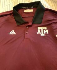 Texas A&M Aggies Maroon Red Adidas New NWT Golf Polo Shirt XL Extra Large