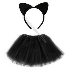 Black Cat Ears and Tutu Fancy Dress Set Animal Ears Halloween Fancy Dress Kit