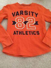 Boys Gently Used Orange Varsity Athletics Jumping Beans Long Sleeve Top Size 7x