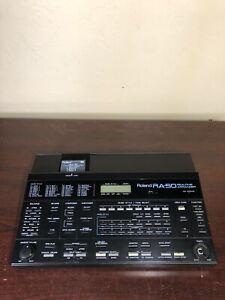 Roland RA-50 Real Time Arranger MIDI Sound Module W/ Piano Bar Music Style Card