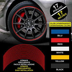 "Tiras Coche Adhesivo Adhesivos Ruedas Reflectores™ 9 MM 17"" Wheel Rim Stickers"