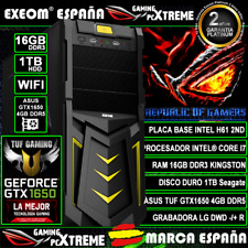 Ordenador Gaming Pc Intel Core i7 16GB 1TB ASUS GTX1650 4GB TUF Gaming Sobremesa