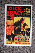 Dick Tracy Episode 2 Lobby Card Movie Poster The Bridge of Terror