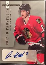 Duncan Keith 2005-06 Prized Prospects Rookie Autograph Chicago Blackhawks /999