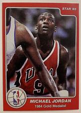 1984-85 STAR MICHAEL JORDAN #195, 1984 GOLD MEDALIST RC REPRINT, GEM MINT