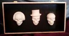 ORIGINAL MINIATURE FUNKY SKULLS 3D HANGING ARTWORK unusual gift see pics