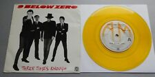 "9 Below Zero - Three Times Enough UK 1981 A&M Yellow Vinyl 7"" Single P/S"