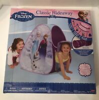 Disney Frozen Classic Hideaway Tent with Elsa, Anna and Olaf print opened packge