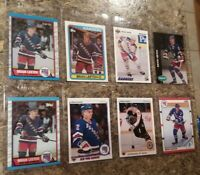 (8) Brian Leetch 1989-90 Topps O-Pee-Chee 1990-91 Upper Deck Rookie card lot RC