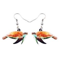 Acrylic Floral Ocean Turtle Earrings Drop Sea Animal Jewelry For Women Kids Gift