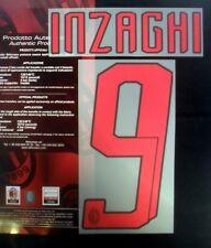 AC Milan Inzaghi 9 2007/08 Football Shirt Name/Number Set Kit Away