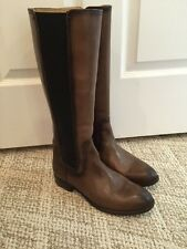 Frye Lindsay Gore Tall Boot FAWN women's 8.5 RV $398