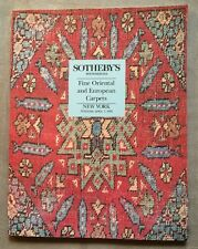 Sotheby's New York April 1992 Fine Oriental and European Carpets Auction Catalog