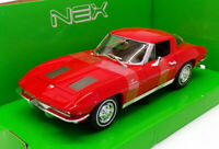 Welly 1/24-27 Scale Model Car 24073W - 1963 Chevrolet Corvette - Red