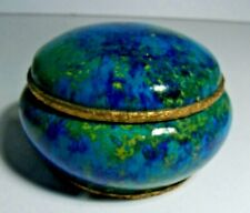 Antique Paul Milet Sevres Trinket Box With Brass Mounts