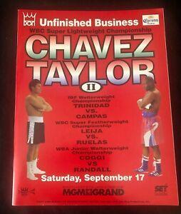 """JULIO CESAR CHAVEZ vs. MELDRICK TAYLOR """"UNFINISHED BUSINESS II""""  PROGRAM 1994"""