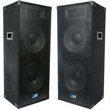2900W Pair of Dual 15 Inch Passive PA System Loud Speaker for Band DJ Karaoke