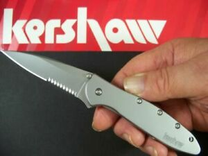 Kershaw 1660ST Leek Assisted Open Pocket Knife Part Serrated New In Box Kershaw!