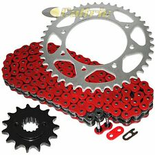 Red O-Ring Drive Chain & Sprocket Kit Fits KAWASAKI KLR650 KL650A KL650E 1990-16