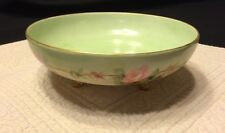Vintage Elite Limoges France Footed Candy Dish~Bowl~Pink Roses