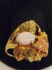 Black Hills Gold Fire Opal Ring 10kt 12kt Stamper  Size 6.5