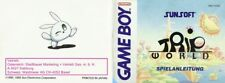 Trip World FRG reconditioned ART BOOKLET INSTRUCTION MANUAL Game boy