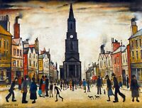 Lowry A Market Place Berwick upon Tweed Canvas Wall Art Poster Print Painting LS