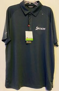 NEW Sunice Golf Polo Shirt Srixon Tour Logo Polyester NWT Size XL Gray