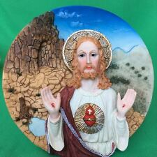 NEW Suanti Jesus Figure 3D Plate Collectible Home Decoration Christmas Gift