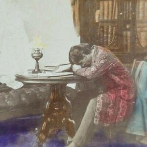Ghost Spirit Appearing Reveries of Bachelor FG Weller Photo Stereoview B173