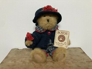 Boyds Bears Bailey & Friends Teddy, Knitted Cardigan, Hat, With Tag