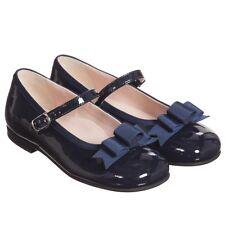 Il Gufo per Neonate Scarpe in pelle blu scuro con fiocco EU 22 UK 5