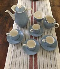 Vintage Wedgwood Summer Sky Blue Coffee Set Sugar Creamer Plus Coffee Pot 14 Pc