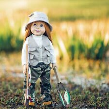 18 Inch Doll Clothes & Accessories 11Pc Complete Fishing Set Fits American Girl