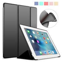 "Slim Leather Smart Cover Silicone Case For iPad 9.7"" Pro 10.5"" 11"" 2018 Mini Air"