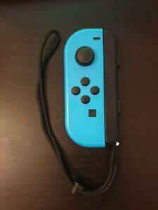Nintendo Switch Joy-Con Left with strap (Minus) Neon Blue Genuine