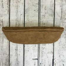 More details for pack of 2 garden co-co wall basket planter coco trough liner 60cm
