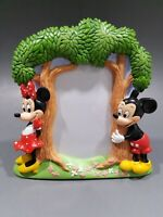 Disney Mickey Minnie Mouse Tree Sculpted Picture Photo Frame