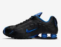 Nike Shox R4 BLACK GAME ROYAL BLUE 104265-053 Retro Running NZ Men's Training